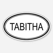 Tabitha Oval Design Oval Decal