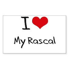 I Love My Rascal Decal