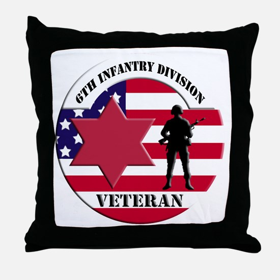6th Infantry Division Throw Pillow