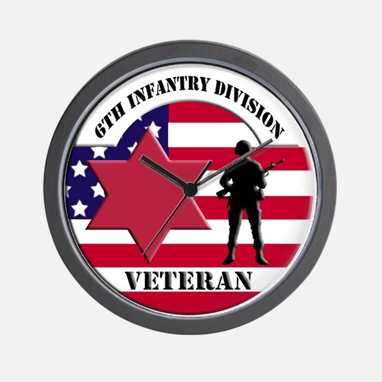 6th Infantry Division Wall Clock
