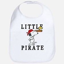 Snoopy Pirate Cotton Baby Bib