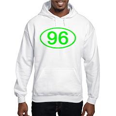 Number 96 Oval Hoodie