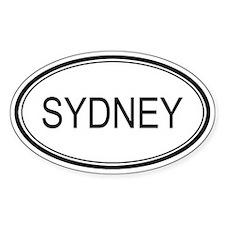 Sydney Oval Design Oval Stickers