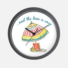 and the livin is easy Wall Clock