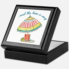 and the livin is easy Keepsake Box