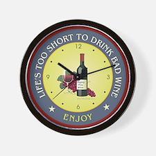 Life Wine - Wall Clock