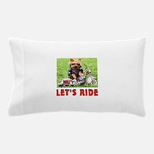 YORKIE BIKER Pillow Case