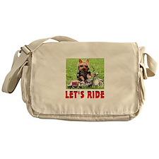 YORKIE BIKER Messenger Bag