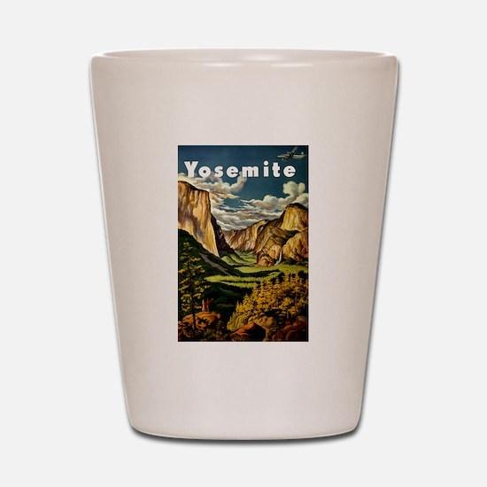 Vintage Yosemite Travel Shot Glass