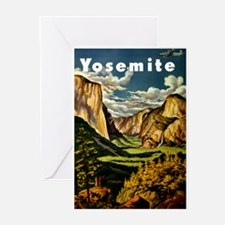 Vintage Yosemite Travel Greeting Cards (Pk of 10)
