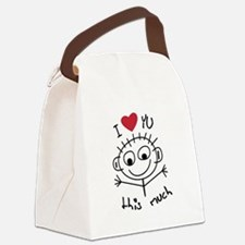 I Love you THIS much Canvas Lunch Bag