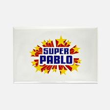 Pablo the Super Hero Rectangle Magnet