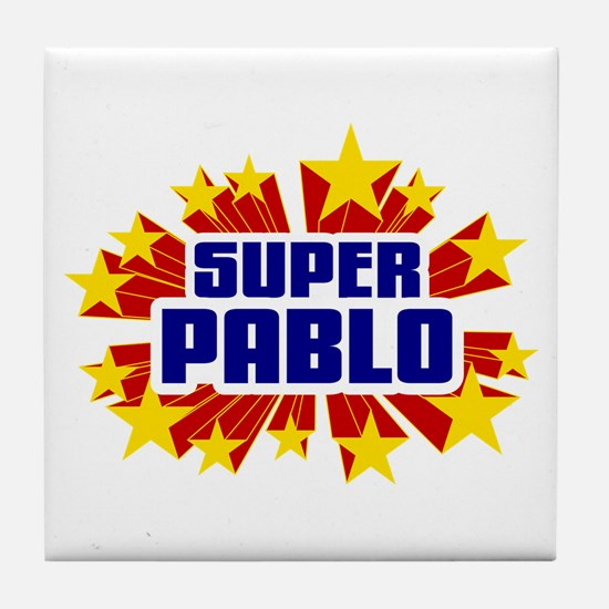 Pablo the Super Hero Tile Coaster