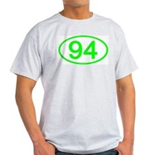Number 94 Oval Ash Grey T-Shirt