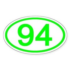 Number 94 Oval Oval Decal