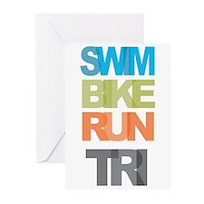 SWIM BIKE RUN TRI Greeting Cards (Pk of 20)