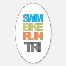 SWIM BIKE RUN TRI Decal