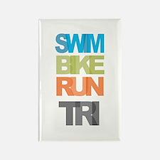SWIM BIKE RUN TRI Rectangle Magnet