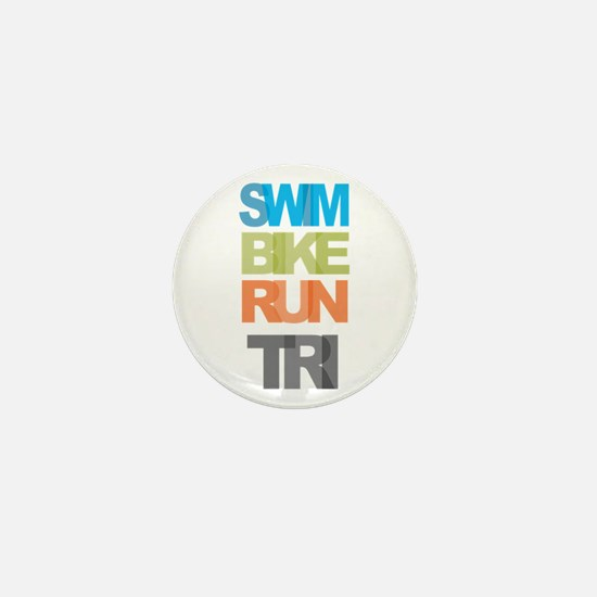 SWIM BIKE RUN TRI Mini Button