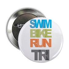 """SWIM BIKE RUN TRI 2.25"""" Button (10 pack)"""