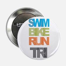 """SWIM BIKE RUN TRI 2.25"""" Button (100 pack)"""