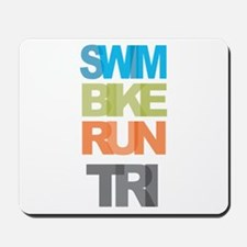 SWIM BIKE RUN TRI Mousepad