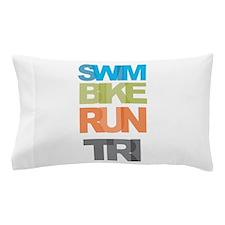 SWIM BIKE RUN TRI Pillow Case