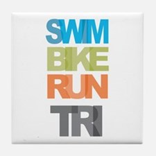 SWIM BIKE RUN TRI Tile Coaster