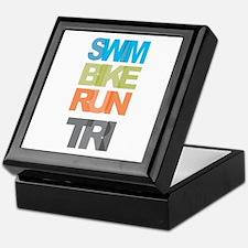 SWIM BIKE RUN TRI Keepsake Box