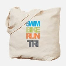 SWIM BIKE RUN TRI Tote Bag