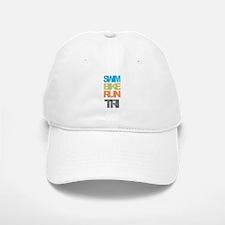 SWIM BIKE RUN TRI Baseball Baseball Baseball Cap