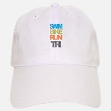 SWIM BIKE RUN TRI Baseball Hat