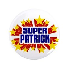 "Patrick the Super Hero 3.5"" Button (100 pack)"