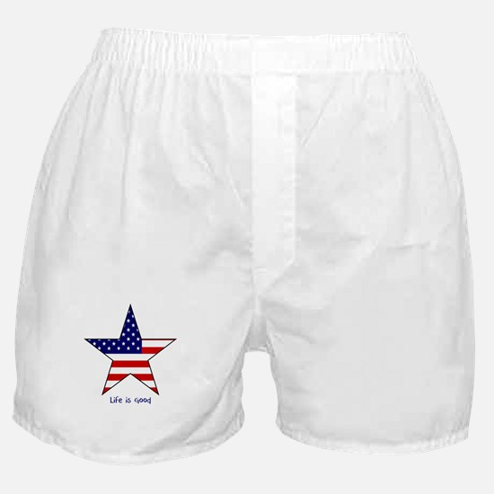 Patriotic Star~Life is Good Boxer Shorts