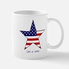 Patriotic Star~Life is Good Mug