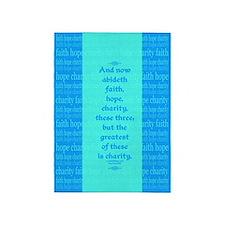 Faith Hope Charity 5'x7'Area Rug