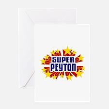 Peyton the Super Hero Greeting Card