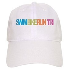 SWIM BIKE RUN TRI Baseball Hat