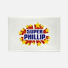 Phillip the Super Hero Rectangle Magnet