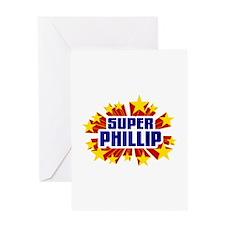 Phillip the Super Hero Greeting Card
