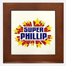 Phillip the Super Hero Framed Tile