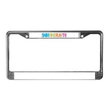 SWIM BIKE RUN TRI License Plate Frame