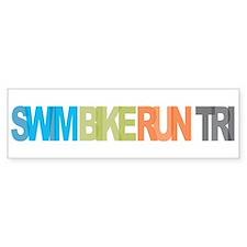 SWIM BIKE RUN TRI Bumper Bumper Sticker