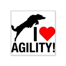 I love Agility Border Collie Sticker