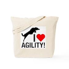 I love Agility Border Collie Tote Bag