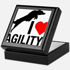 I love Agility Border Collie Keepsake Box