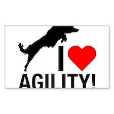 I love Agility Border Collie Decal