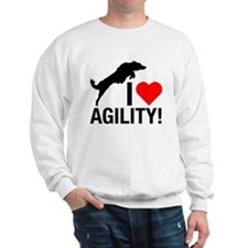I love Agility Border Collie Sweatshirt