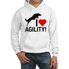 I love Agility Border Collie Hoodie