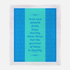 Faith Hope Charity Throw Blanket